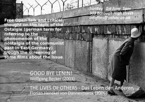Anyone want to go see both big movies about life in East Germany on Sunday?