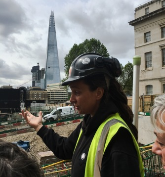 Senior Archaeologist Sadie Watson from MOLA (Museum of London Archeology)