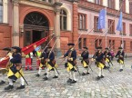 The Smålands Karoliner, a regiment of the Swedish army in uniforms from 1700